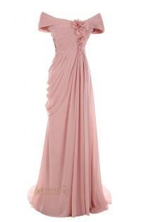 wedding photo - Off-the-shoulder Long Mother Of The Bride Dress /Evening Dresses Am32