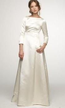 wedding photo - J. Crew Duchesse Satin Noelle Gown, $465 Size: 8