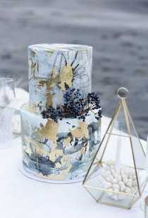 wedding photo - 40 Must See Marble Wedding Cake Ideas