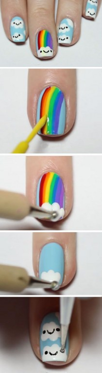 wedding photo - Rainbow Nail Art