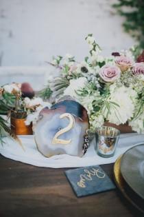 """wedding photo - Geometric Jewel Tone """"Stormy"""" Winter Wedding Inspiration"""