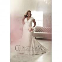 wedding photo - Eternity Bride Plus-Size Dresses Style 29260 by Love by Christina Wu - Ivory  White Lace Wedding Dresses - Bridesmaid Dress Online Shop