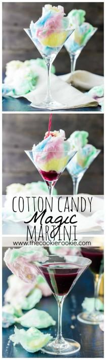 wedding photo - Magic Cotton Candy Martini (Plus Kid Friendly Version)