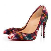 wedding photo - Pigalle Follies 100 Multi Tartan Fabric - Women Shoes - Christian Louboutin