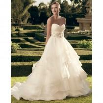 wedding photo - Casablanca Bridal 2174 Ruched Surplice Bodice Beaded Belt - Surplice Bodice Long Strapless Wedding Casablanca Bridal Dress - 2017 New Wedding Dresses