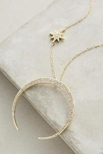 wedding photo - Lunar Arc Necklace
