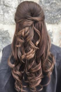 wedding photo - Pretty Half Up Half Down Wedding Hair Style Idea