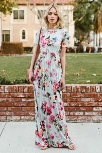 wedding photo - Floral Maxi Dress