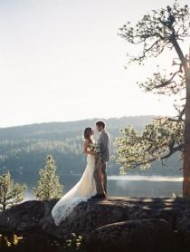 wedding photo - Miss Idaho's Elopement Session In The Mountains
