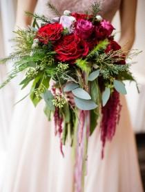 wedding photo - 15 Cascading Wedding Bouquets For Every Style