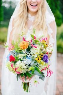 wedding photo - Whimsical Boho Chic Wedding In North Carolina