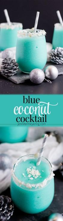 wedding photo - Blue Coconut Cocktail