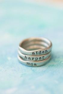 wedding photo - White Gold Stacking Rings {10K White Gold
