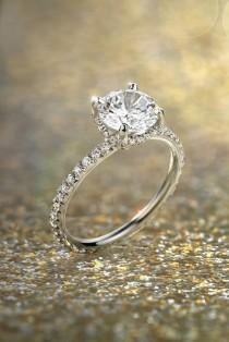 wedding photo - 18 Blue Nile Engagement Rings That Inspire You