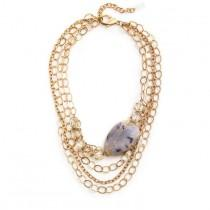 wedding photo - Chevalier Statement Necklace - Gold