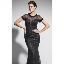 wedding photo - Black Beaded Long Gown by Daymor Couture - Color Your Classy Wardrobe