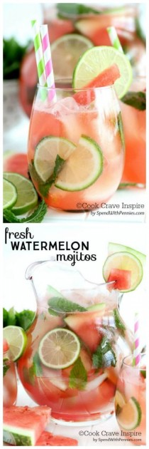wedding photo - Fresh Watermelon Mojitos