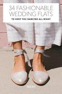 wedding photo - 34 Fashionable Wedding Flats To Keep You Dancing All Night