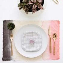 wedding photo - Dip-Dyed Placemats