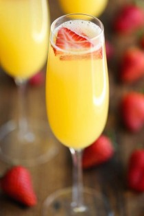 wedding photo - Strawberry Pineapple Mimosas