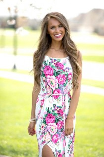 wedding photo - Everything About You Floral Maxi Dress CLEARANCE