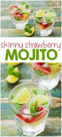 wedding photo - Skinny Strawberry Mojito