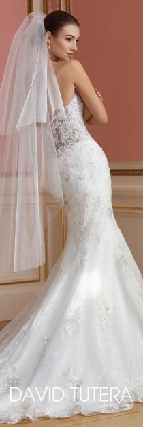 wedding photo - Strapless Sheer Lace Bodice Wedding Dress - 217209 Vada