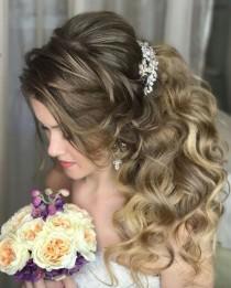wedding photo - 100 Wow-Worthy Long Wedding Hairstyles From Elstile