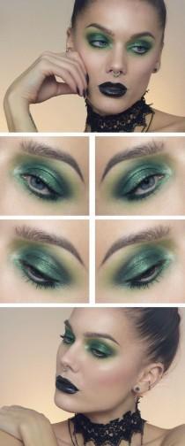 wedding photo - Green Dramatic Eyes