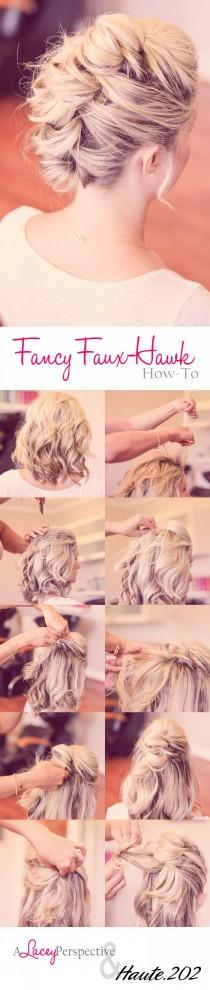 wedding photo - Hair How To: Fancy Faux-Hawk