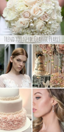 wedding photo - The Bridal Trend You Need: Classic Pearls
