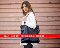 wedding photo - 40% Off! Black Oversize Leather Tote Bag, Women Big Shoulder Bag, Crossbody Bag, Cross Body Leather Bag, Fashion Handbag