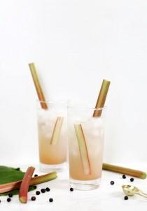 wedding photo - Rhubarb Collins Mocktail