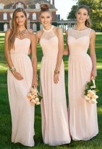 wedding photo - Nude Color Bridesmaid Dress