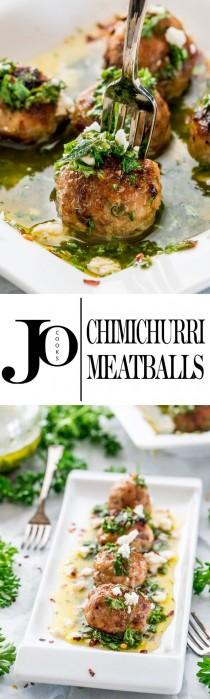 wedding photo - Chimichurri Meatballs