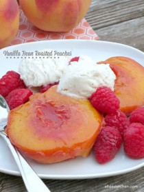 wedding photo - Vanilla Bean Roasted Peaches