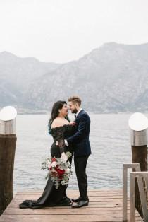 wedding photo - Addams Family Inspired Elopement in Italy