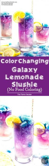 wedding photo - Color Changing Lemonade Slushie (Galaxy Lemonade Slushie)