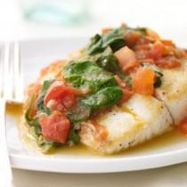 wedding photo - Sautéed Snapper With Plum Tomatoes And Spinach
