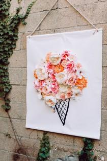 wedding photo - 3D Illustrated Floral Backdrop DIY