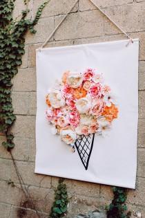 wedding photo - 3D Illustrated Floral Backdrop DIY