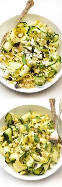 wedding photo - Zucchini And Fresh Corn Farmers' Market Salad With Lemon-Basil Vinaigrette
