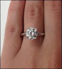 wedding photo - A Perfect 4.2CT Round Cut Solitaire Russian Lab Diamond Ring