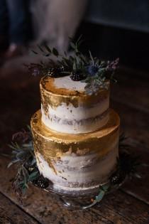 wedding photo - Blue & Gold Luxe Victorian Wedding Ideas