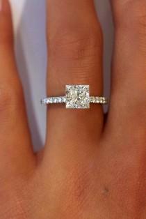 wedding photo - 21 Breathtaking Princess Cut Engagement Rings