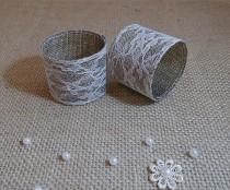 wedding photo - Wedding Table Decor, Burlap Wedding Napkin Rings, Rustic Wedding Napkin Holders, Set of 50