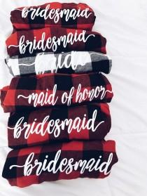 wedding photo - Bridesmaid Flannels