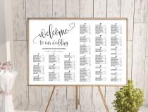 wedding photo - Wedding alphabetical seating chart template, printable seating chart, alphabetical seating chart, editable seating plan, Find your seat sign