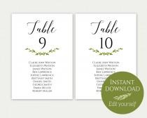 wedding photo - Wedding Seating Chart Template, Seating Cards, Seating Chart Sign, Seating Chart Template, Editable Seating Chart, PDF Download, Greenery