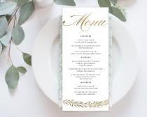 wedding photo - Wedding Menu Printable, Menu Editale Template
